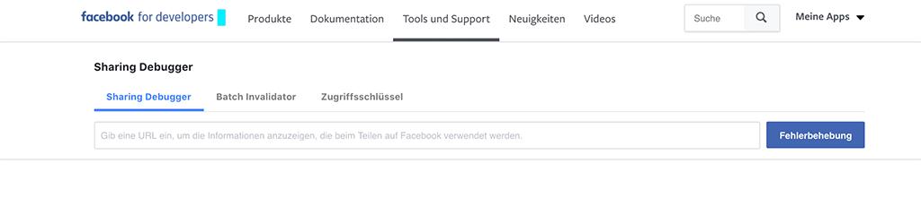 Facebook Sharing Debugger ändert die Link Vorschau