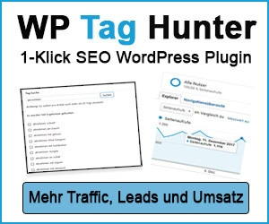 WordPress TAG Hunter Plugin : Geniales 1-Klick SEO